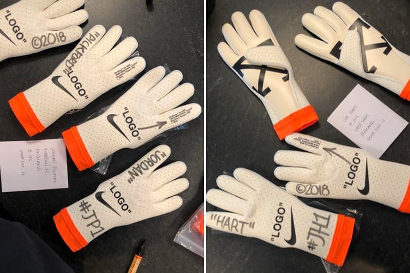Virgil Abloh Off-White Nike Goalkeeper Gloves football soccer joe hart Jordan Pickford england Mercurial Touch