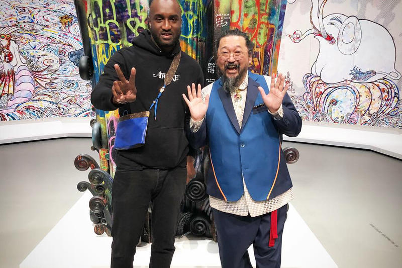 Virgil Abloh Takashi Murakami Louis Vuitton bag design first blue monogram product tease reveal instagram gallery exhibit shoulder bag