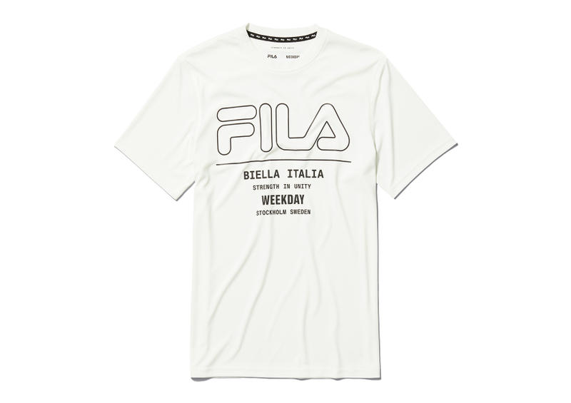 Weekday x Fila Spring/Summer 2018 SS18 Collaboration Collab 20-Piece Collection Releases April 18th In-Store April 19th Online Womenswear Menswear Joggers Leggings Shorts Windbreakers Sports Tops Tees Sweatshirts Light Grey Pure White Light Pink Blue Performance Athletic How to Cop Buy Purchase
