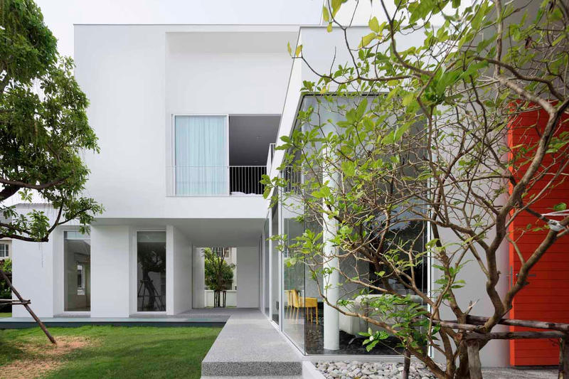 White Box Ayutt and Associates Homes Houses Modern Interior Exterior Bangkok Thailand Interior Exterior Building Inspiration Influence Minimalist