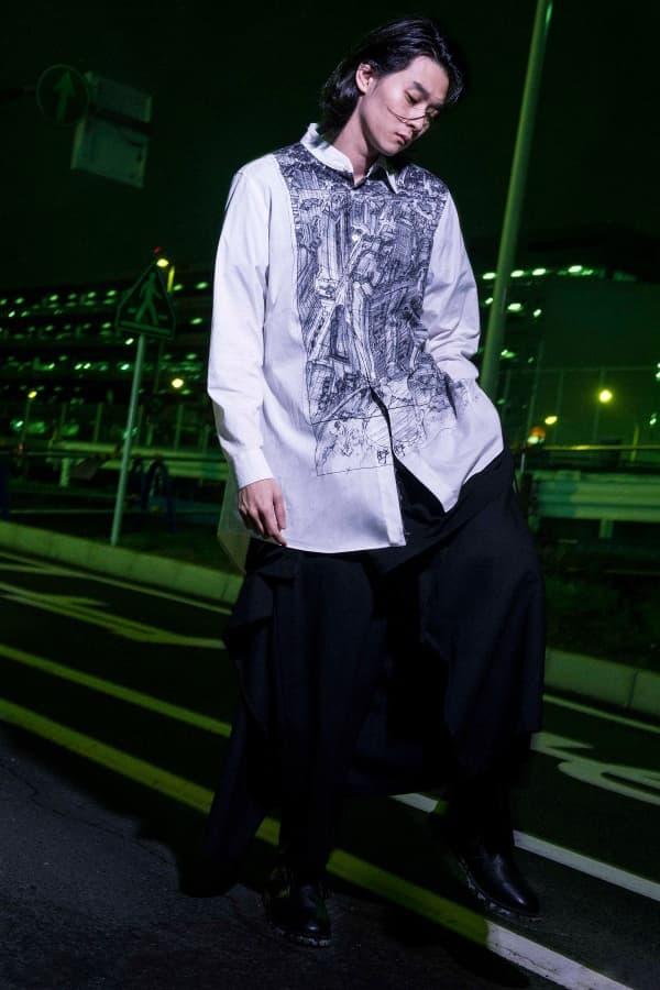 Yohji Yamamoto Ground Y Ghost in the shell Mamoru Oshii collaboration collection spring summer 2018 anime