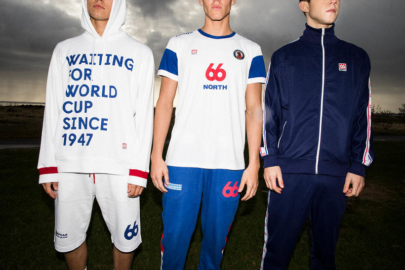 66North 2018 World Cup Capsule Collection FIFA Iceland Competing 1947 Soccer Jersey Shirt Football Graphic Hoodie Scarf Tracksuit