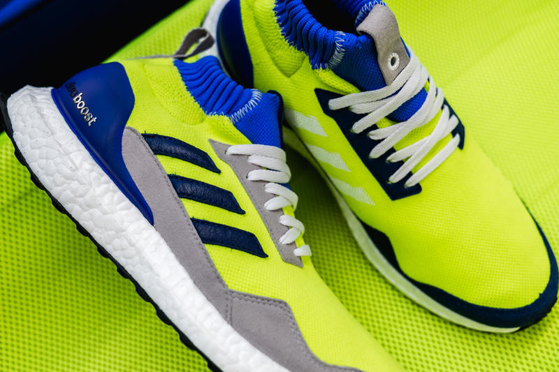 9cea724db adidas Consortium UltraBOOST Mid Prototype proto midproto Release Info blue  green grey gray volt neon navy