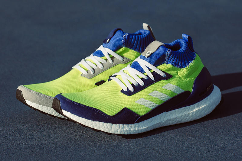 4ae7f2eafe2 A First Look at the adidas Consortium UltraBOOST Mid Prototype. With  contrasting colors on each shoe.