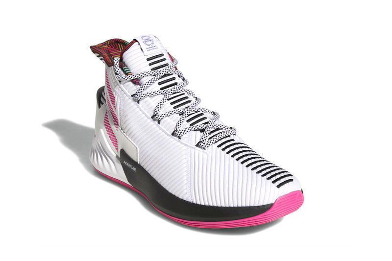adidas D Rose 9 derrick rose sneakers footwear white pink black first look