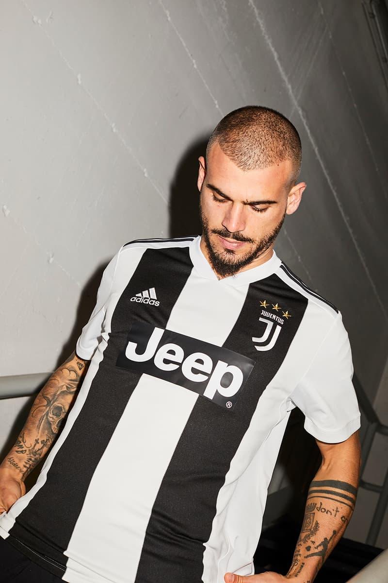 adidas Football Juventus Home Kit Black White Stripes 3 Stars Jeep Sponsor Serie A 2018/9 History Juve