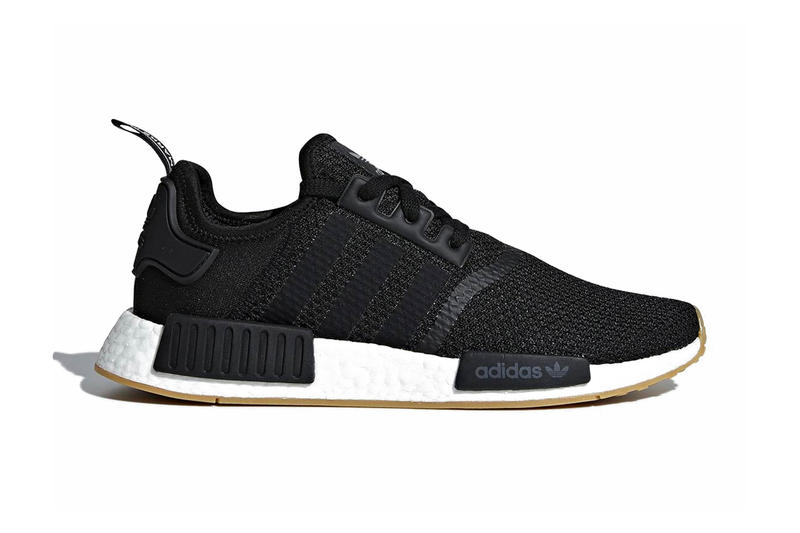 79304e986aad9 adidas NMD R1 Gum Sole Pack black grey white release info sneakers footwear