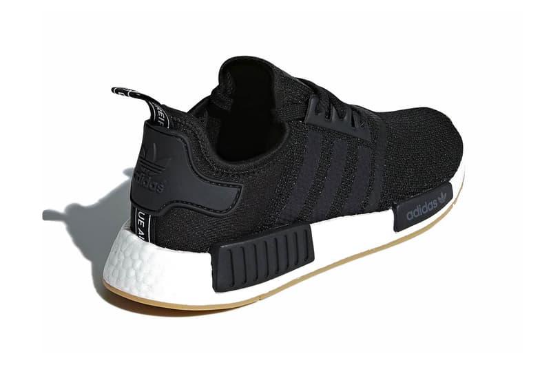 adidas NMD R1 Gum Sole Pack black grey white release info sneakers footwear