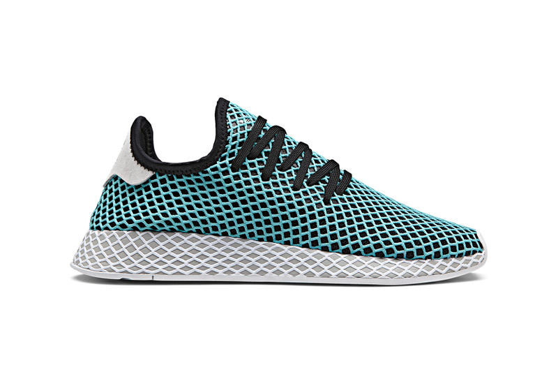 adidas Originals Deerupt x Parley for the Oceans Collab Collaboration Shoes Kicks Sneakers Trainers Product Release May 28 Cop Purchase Buy Available Coming Soon Duo Partnership Two-Special Edition Models Ocean Plastic Waste Pollution Raise Awareness Eco-Innovative Solutions Enviromental Issues