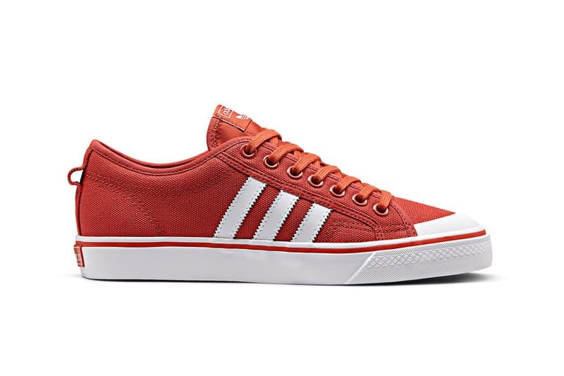 adidas Originals Nizza Spring/Summer 2018 Colorways Basketball Skateboarding Skating Pink Orange Blue Green White Slip On Release Information Details Closer Look