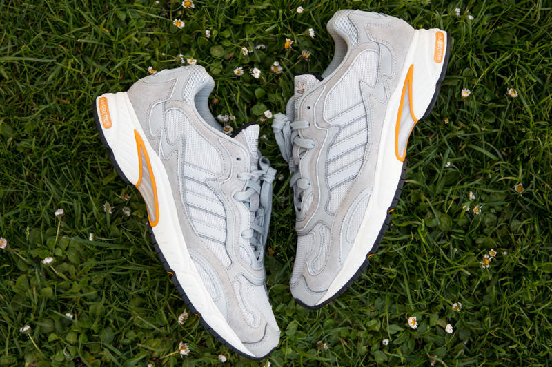 """adidas Originals """"Temper Run"""" Stone Grey 2018 Closer Look Kicks Shoes Sneakers Trainers Retail Price £109 GBP $149 USD Saturday May 5 Release Date First Released 2014 Up Close Details Hanbury Street London Exclusive"""