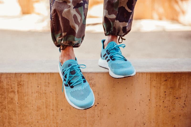 adidas Parley x SPEEDFACTORY AM4LA Release Info sneakers ocean la footwear running sports plastic pollution pollutants yarn boost