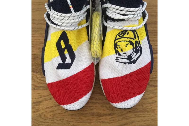 Billionaire Boys Club adidas Originals NMD Hu Pharrell Williams white red blue three stripes
