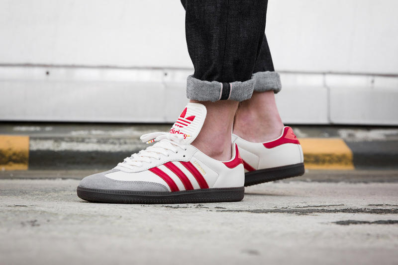"adidas Samba Classic OG ""Luzhniki"" On Foot White Red Colorway Closer Look Overkill Moscow World Cup Football Soccer Casual 2018 Release Details Information"