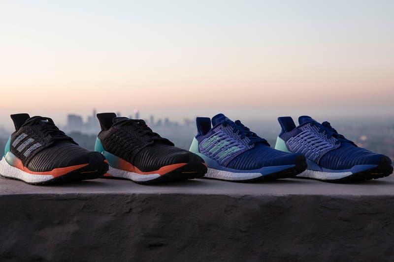 adidas Solarboost first look closer look sneakers runners blue black orange running three stripes nasa ARAMIS