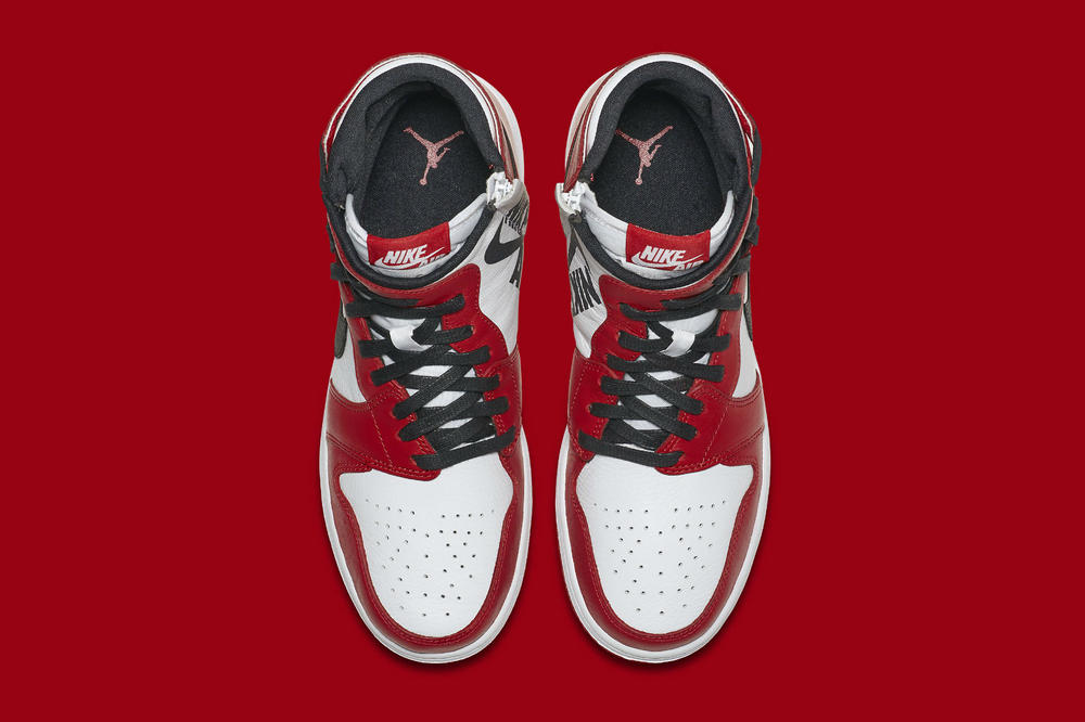 """Nike Air Jordan 1 Rebel """"Chicago"""" Release Date Twisted Laces High Top Black Red White"""