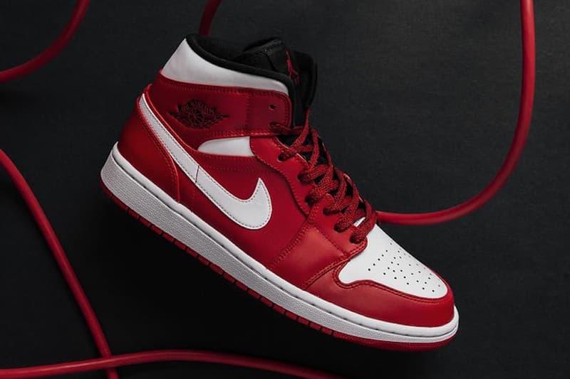 bba65a9833e Air Jordan 1 Mid Gym Red Release info jordan brand michael jordan red black  white sneakers