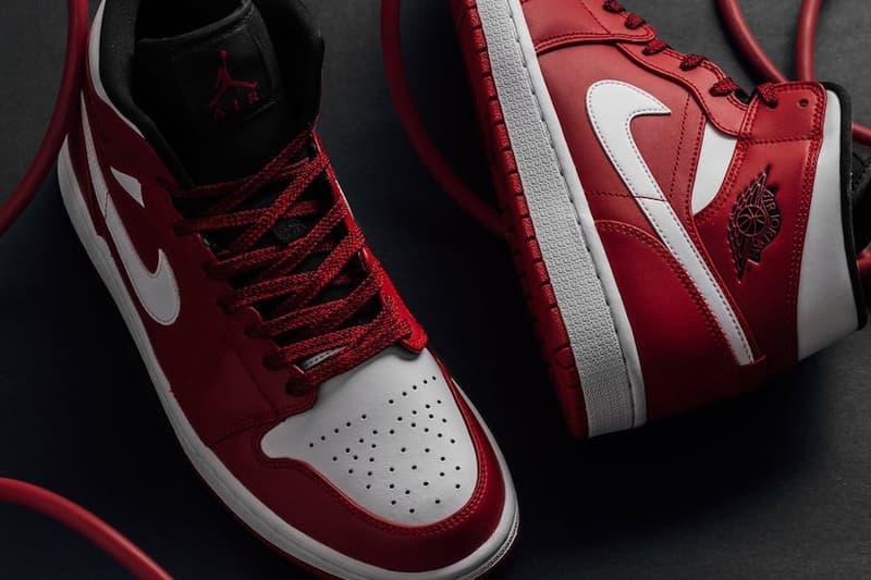 Air Jordan 1 Mid Gym Red Release info jordan brand michael jordan red black white sneakers footwear