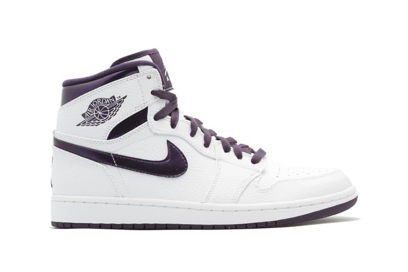 Air Jordan 1 White Metallic Purple 2018 jordan brand footwear michael  jordan nike air 369dc8e8341f