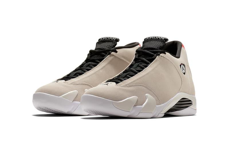 Air Jordan 14 Desert Sand may 15 2018 release date info drop sneakers shoes footwear infrared23
