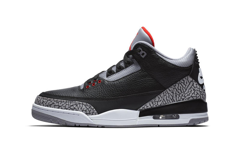 Air Jordan 3 Black Cement Restock grey red release info sneakers footwear michael jordan