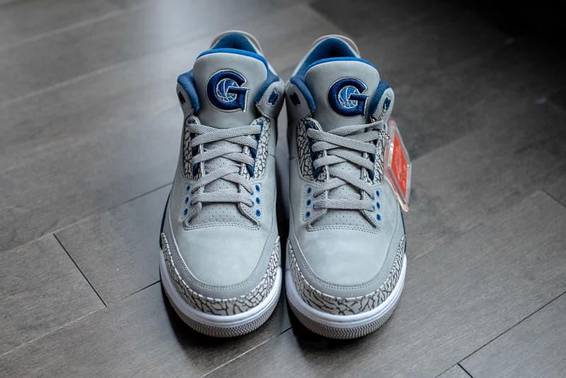 Air Jordan 3 Georgetown Hoyas PE Detailed Look