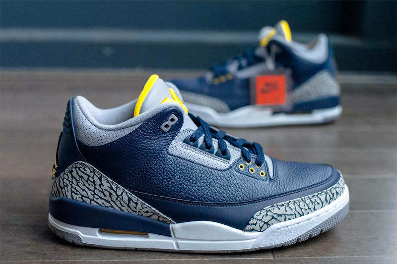Air Jordan 3 Michigan Wolverines PE friends & family jordan brand release info player exclusive