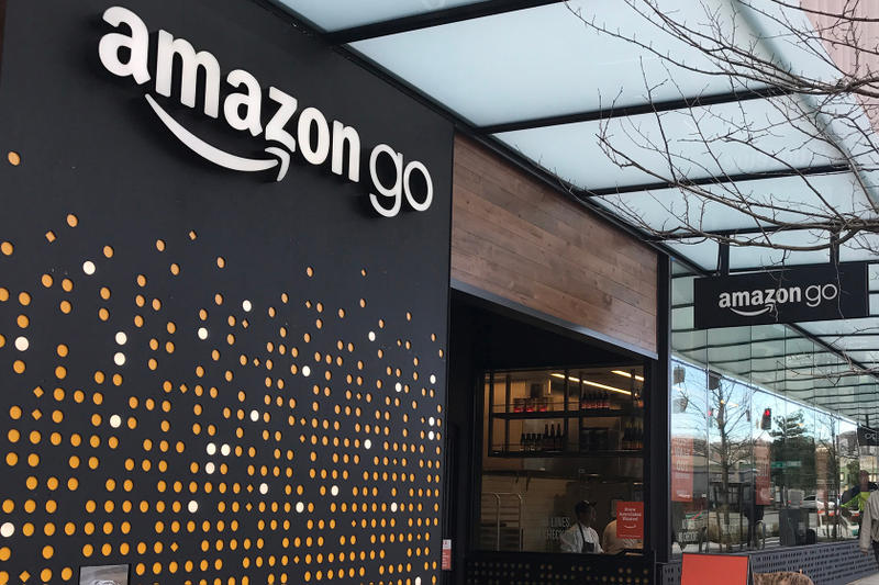 Amazon Go Arriving Chicago San Francisco Grocery Store Online Retailer Purchase Products Cashier Checkout Station