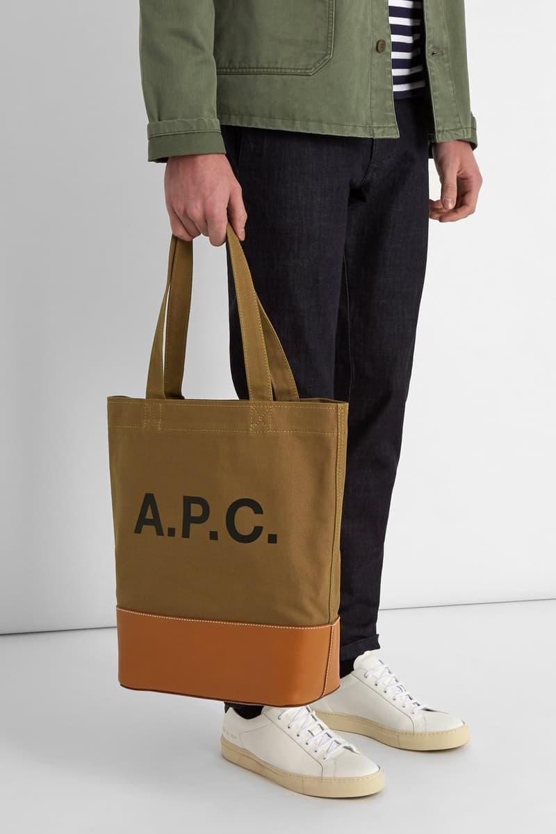 cae11c67e5 A.P.C. Axel Tote Bags japanese denim canvas release info accessories