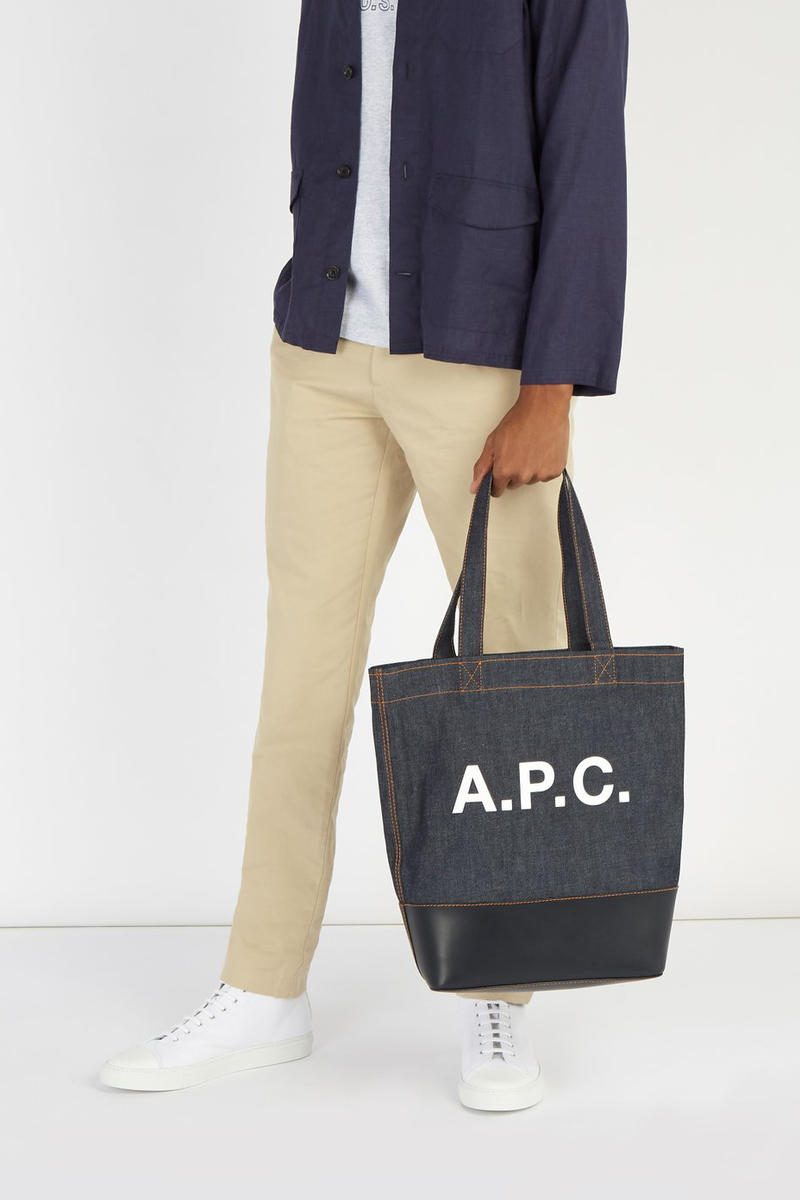 A.P.C. Axel Tote Bags japanese denim canvas release info accessories