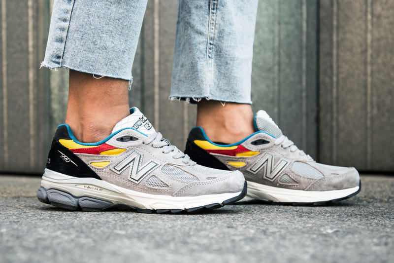 6016afde89 Aries x New Balance 990v3 Trainers On-Foot Closer Look Collab Collaboration  Releasing Thursday May