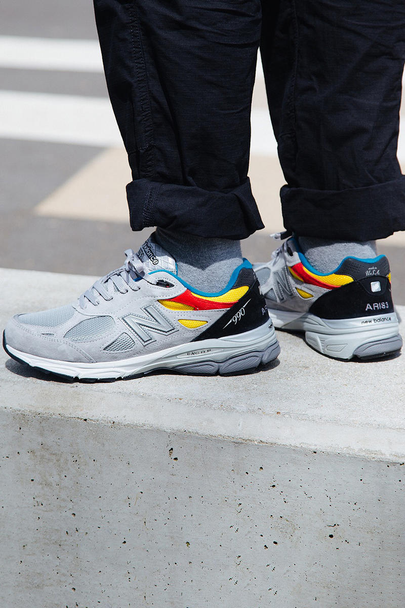 Aries New Balance 990v3 Color Multicolor 990 Grey Red Yellow Blue