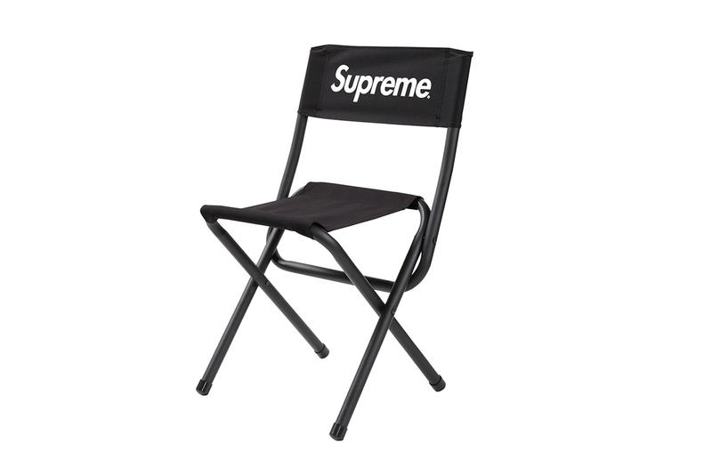 supreme black fold out chair