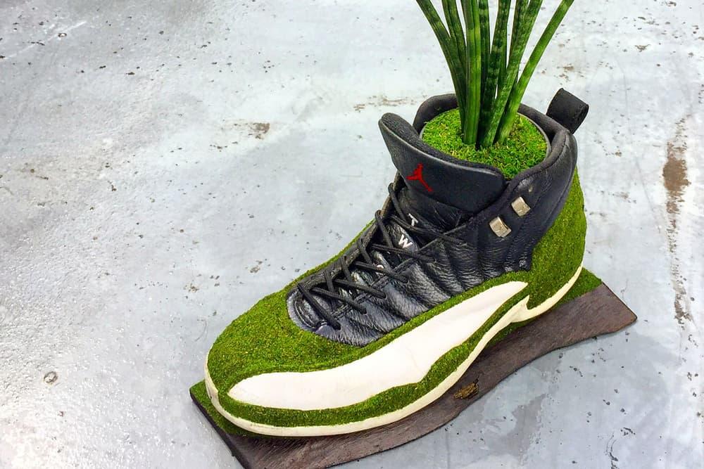 kosuke sugimoto shoetree isetan shinjuku nike sneakers artworks sculptures art