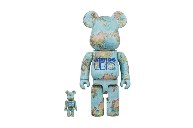atmos UBIQ Medicom Toy BEARBRICKs globe world earth 100 400 percent may 2018 release date info drop