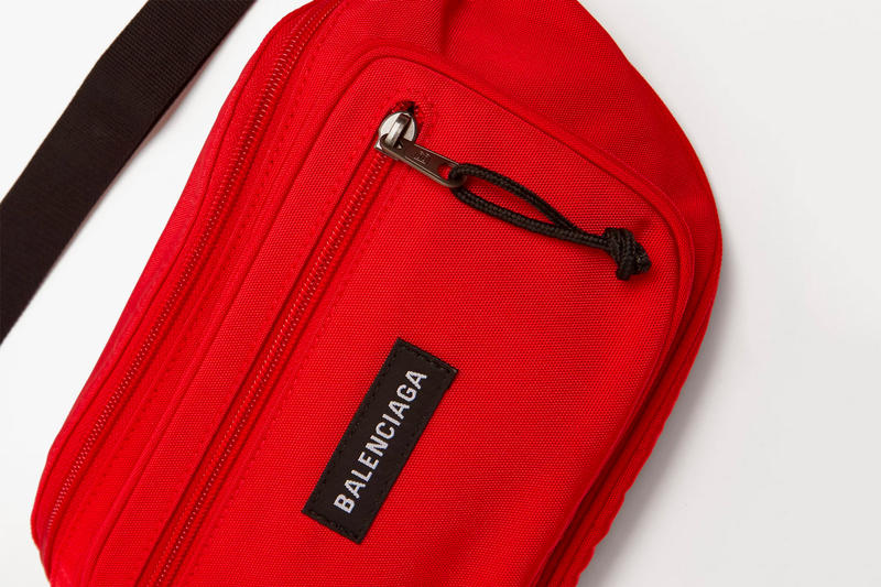 Balenciaga Logo Nylon Belt Bag Available Now purchase waist pack