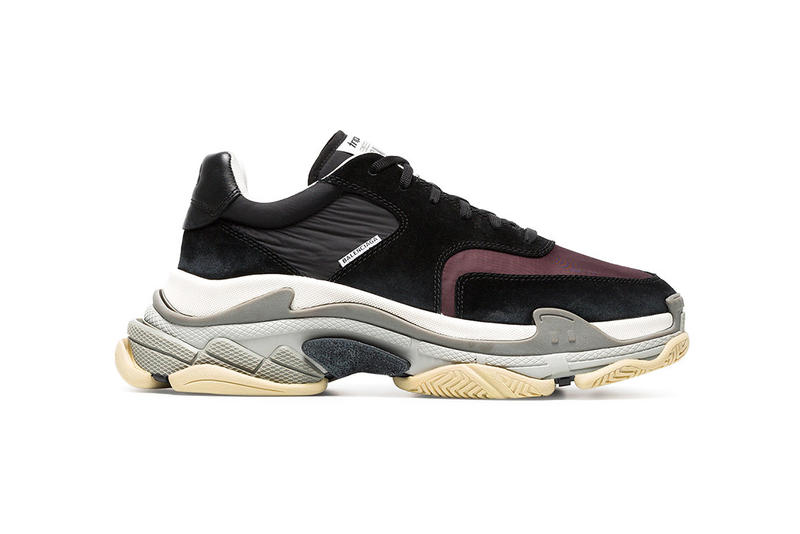 Balenciaga Triple S Sneaker Black Grey purple eggplant april may 2018 release date info drop shoes footwear