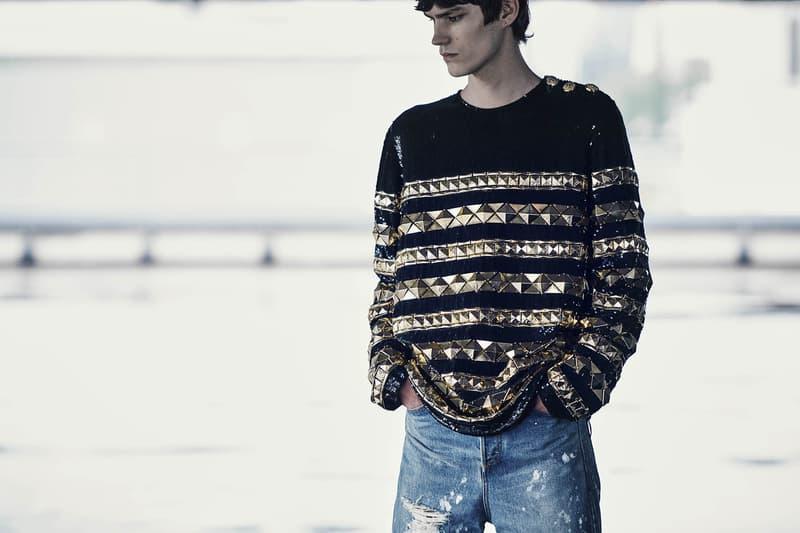 Balmain Olivier Rousteing resort 2019 collection runway lookbook sneaker menswear