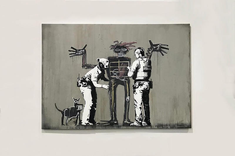 Banksy Beyond the Streets Festival LA Artwork Robots Police Canvas