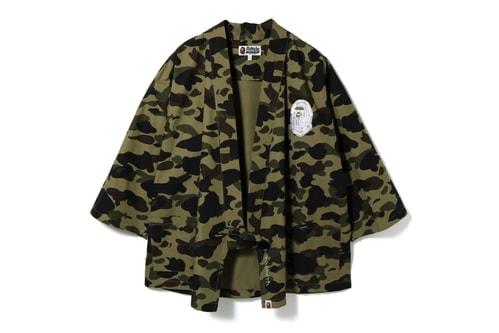 BAPE Goes Traditional With 1ST CAMO Kimono Shirts