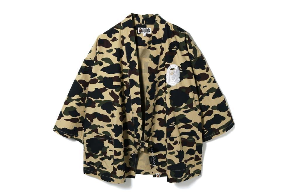 BAPE 1ST CAMO Kimono Shirts a Bathing ape ape head japan