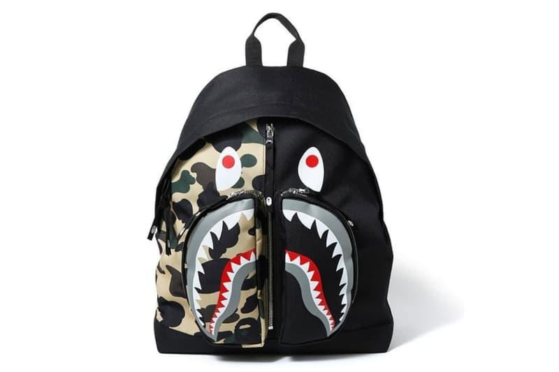 bape a bathing ape 1st camo shark backpack