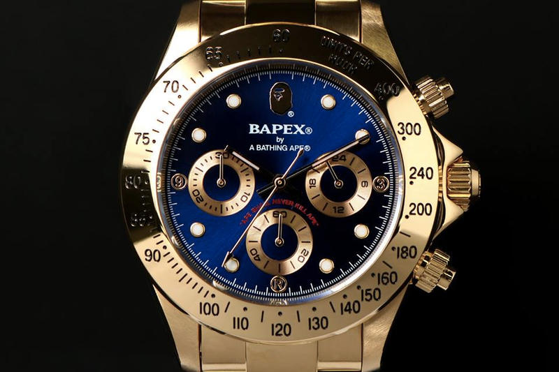 BAPE BAPEX TYPE-3 Silver Gold Blue Dark Light Ape Shall Never Kill Ape Watches Model Release Information Details