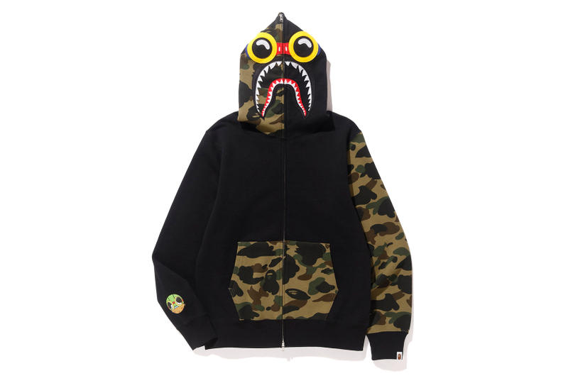 BAPE x Hebru Brantley Collaboration Collection Flyboy Baby Milo Lil Momma Shark Hoodie T-shirt Ape Head Tee Release Details Social Status Los Angeles