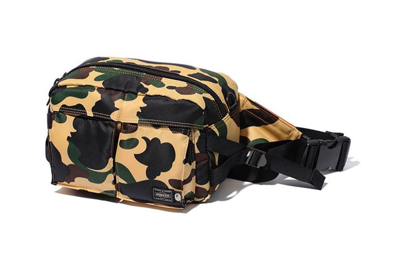 bape porter waist bag yellow