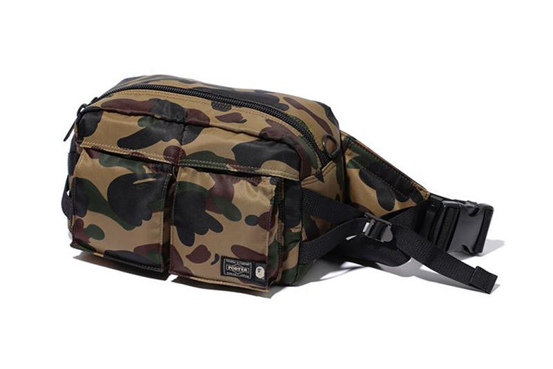 bape porter waist bag green
