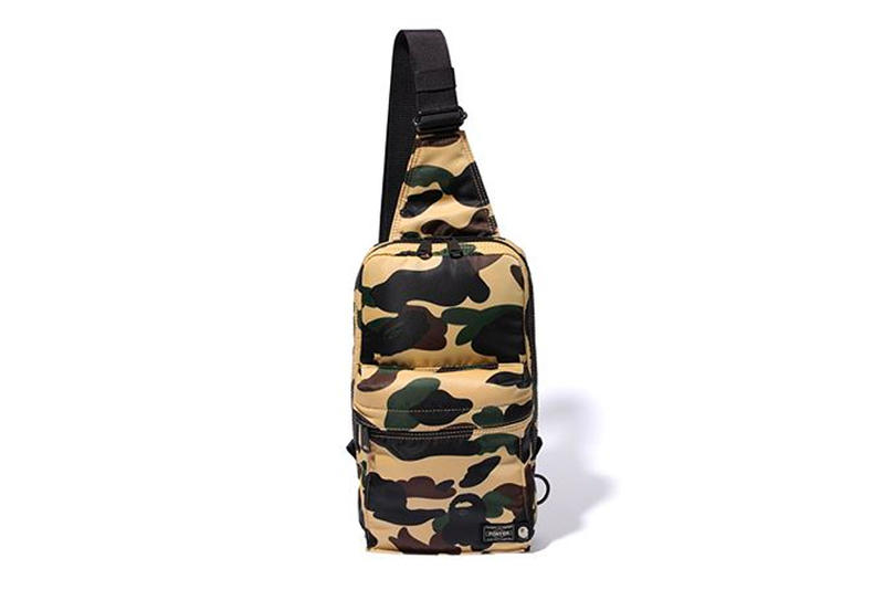 bape porter sling bag yellow