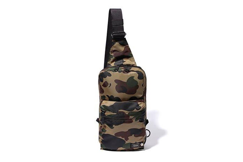 bape porter sling bag green