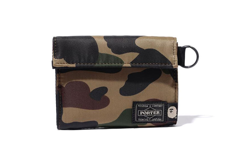 bape porter wallet green