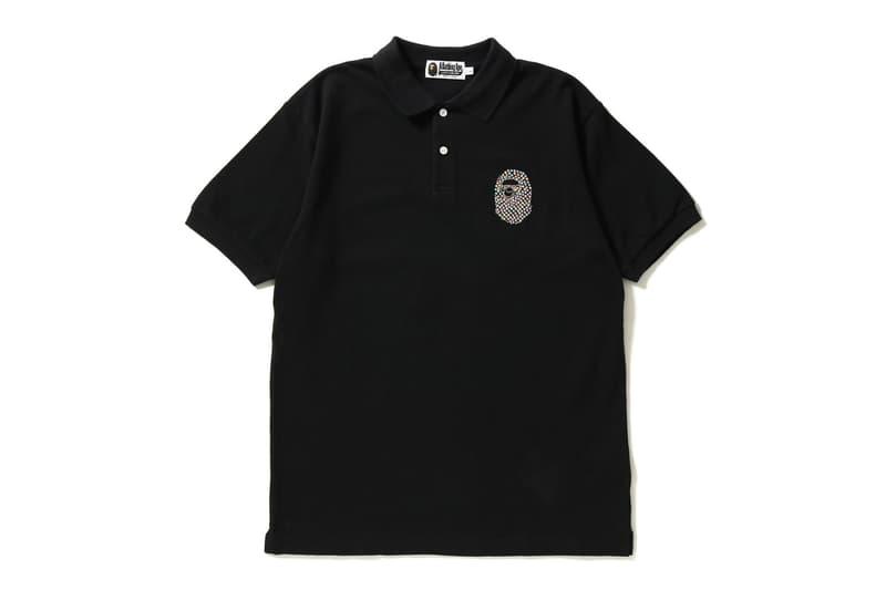 BAPE Swarovski Ape Head Polos black